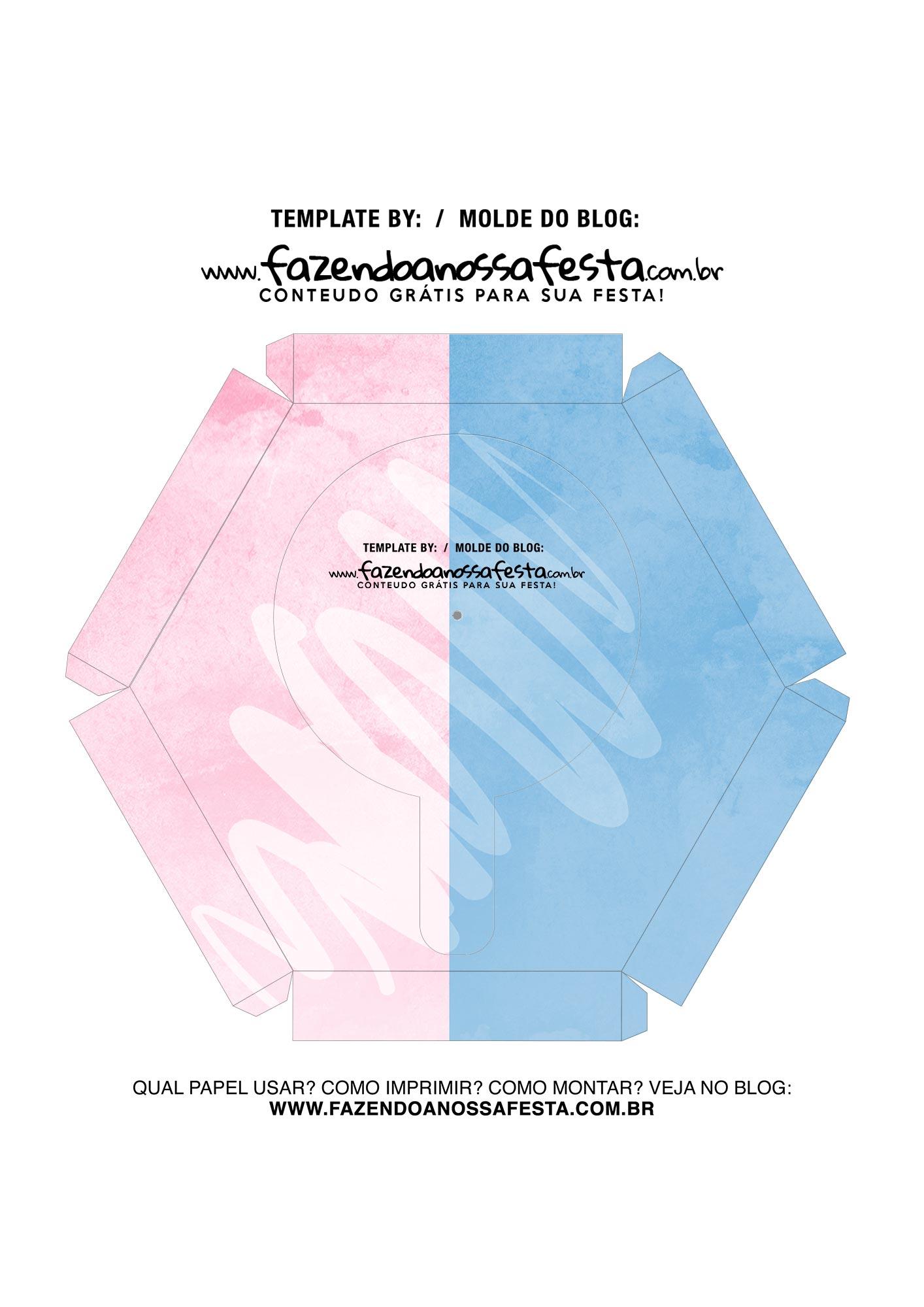Caixa Explosiva Dia dos Namorados Rosa e Azul 7
