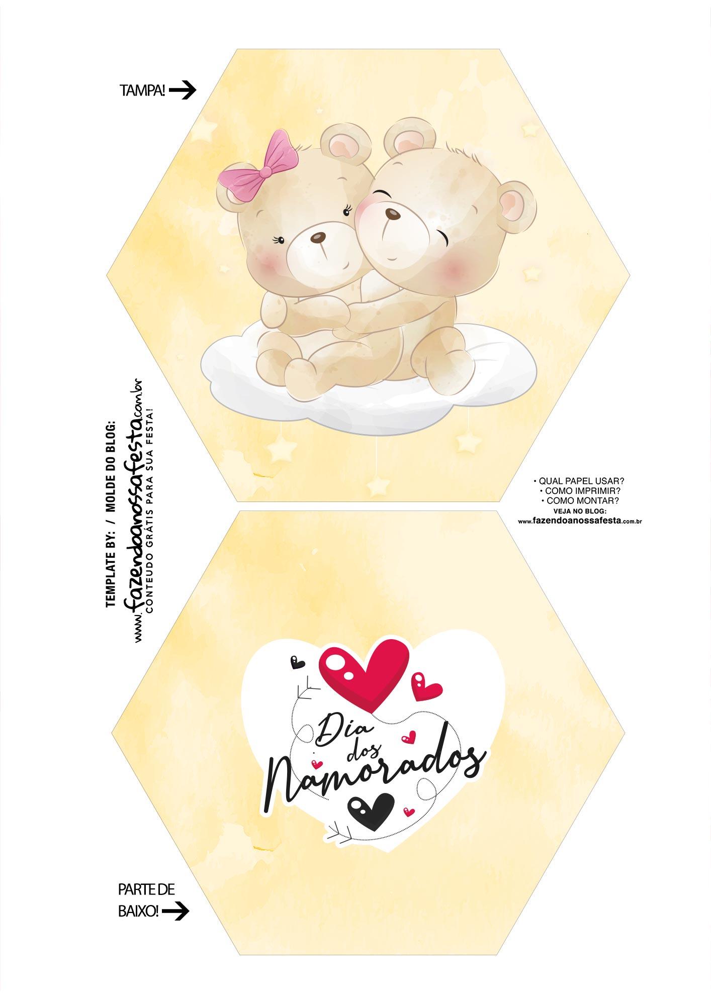 Caixa Explosiva Dia dos Namorados Ursinho 1