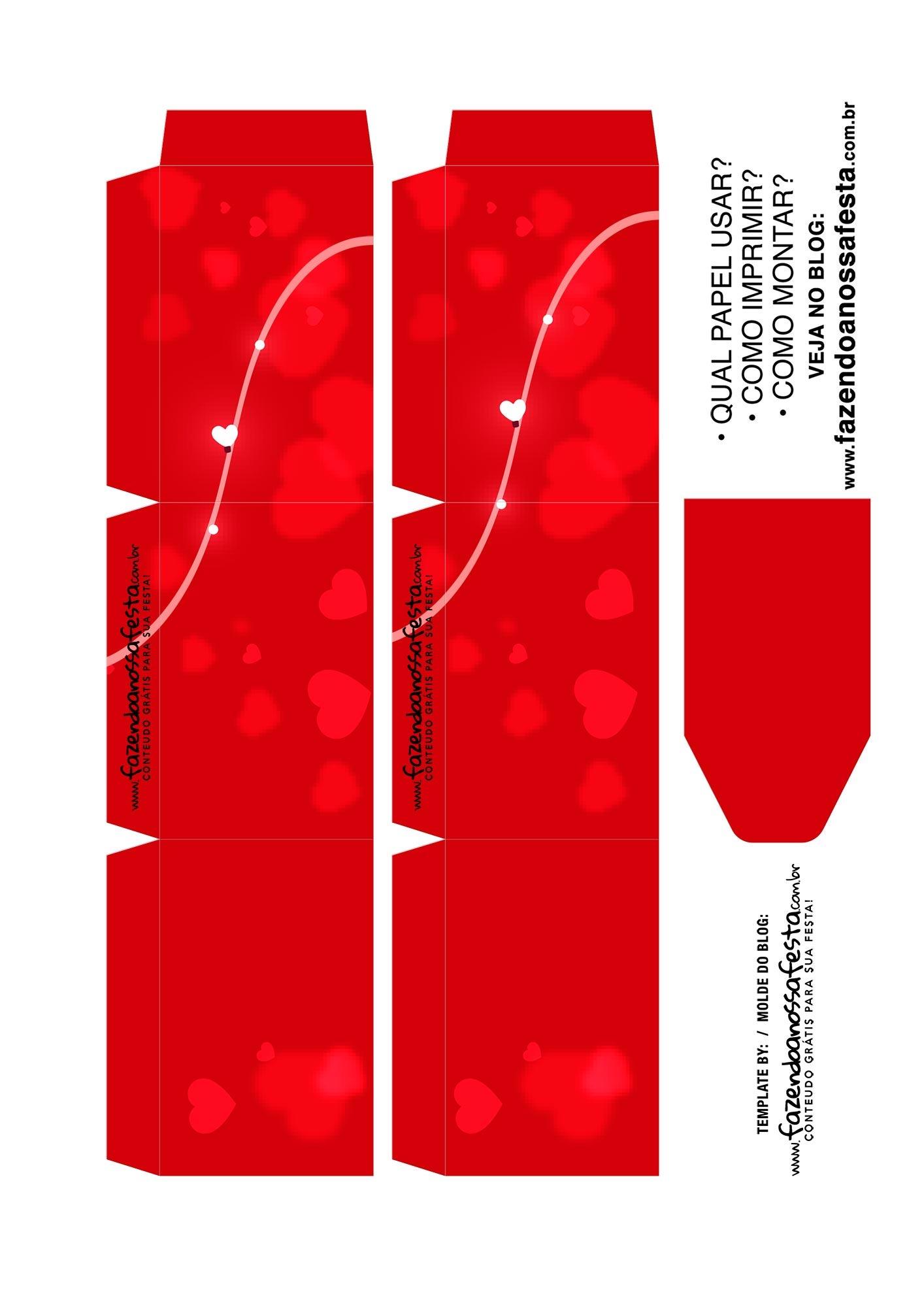 Caixa Explosiva Dia dos Namorados Vermelha 2