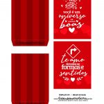Caixa Explosiva Dia dos Namorados Vermelha 3