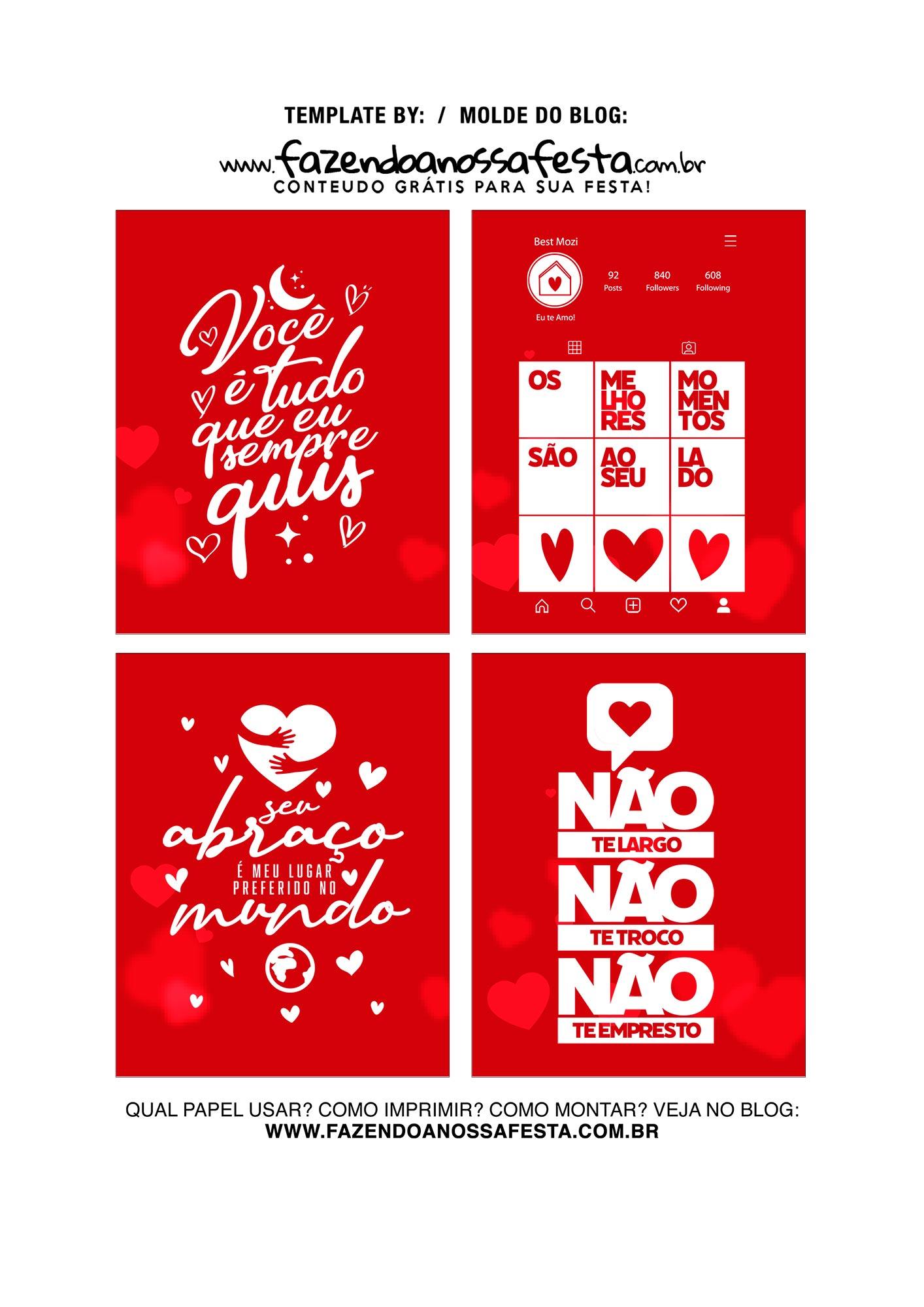 Caixa Explosiva Dia dos Namorados Vermelha