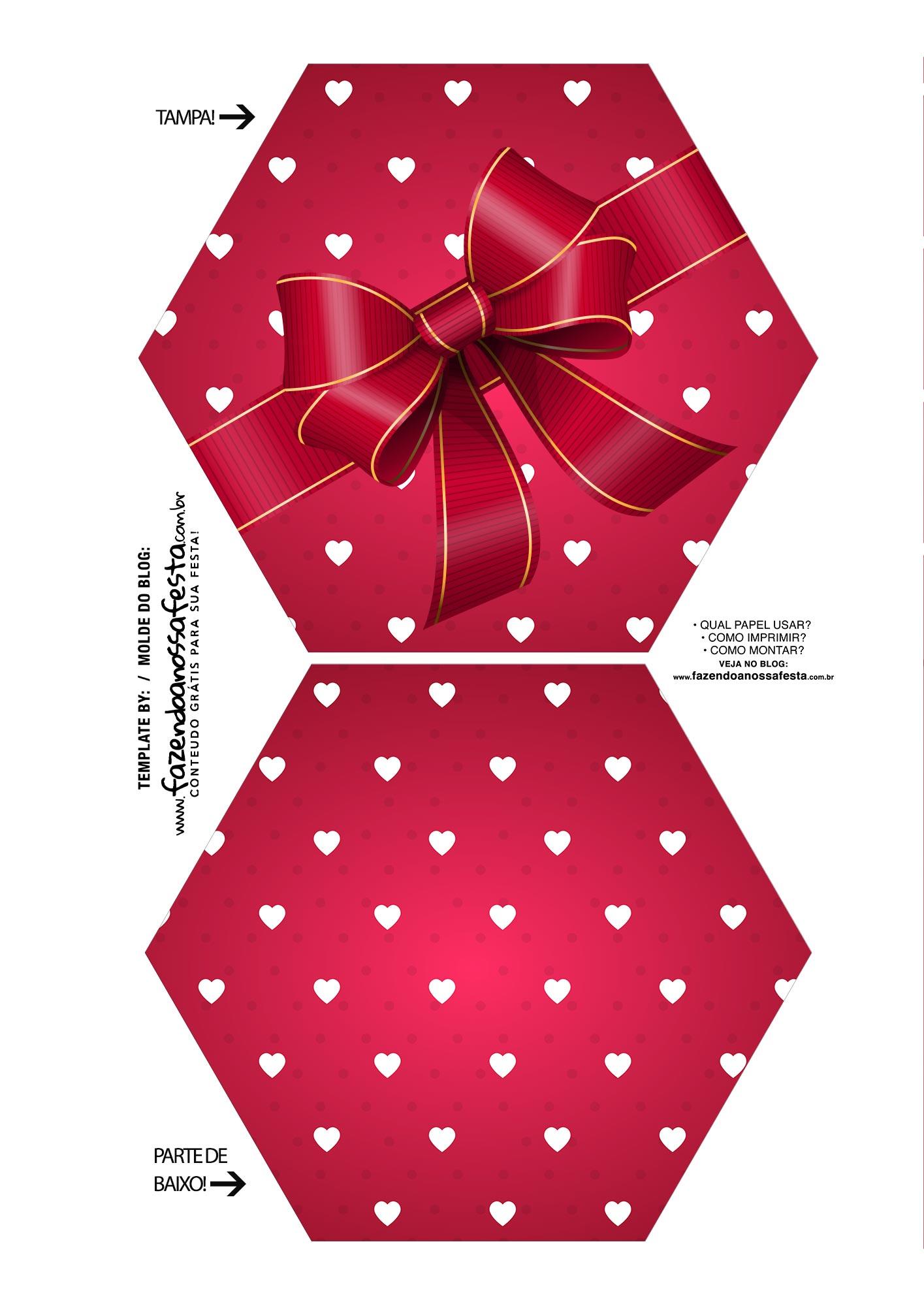 Caixa Explosiva Dia dos Namorados Vermelho Coracoes 1