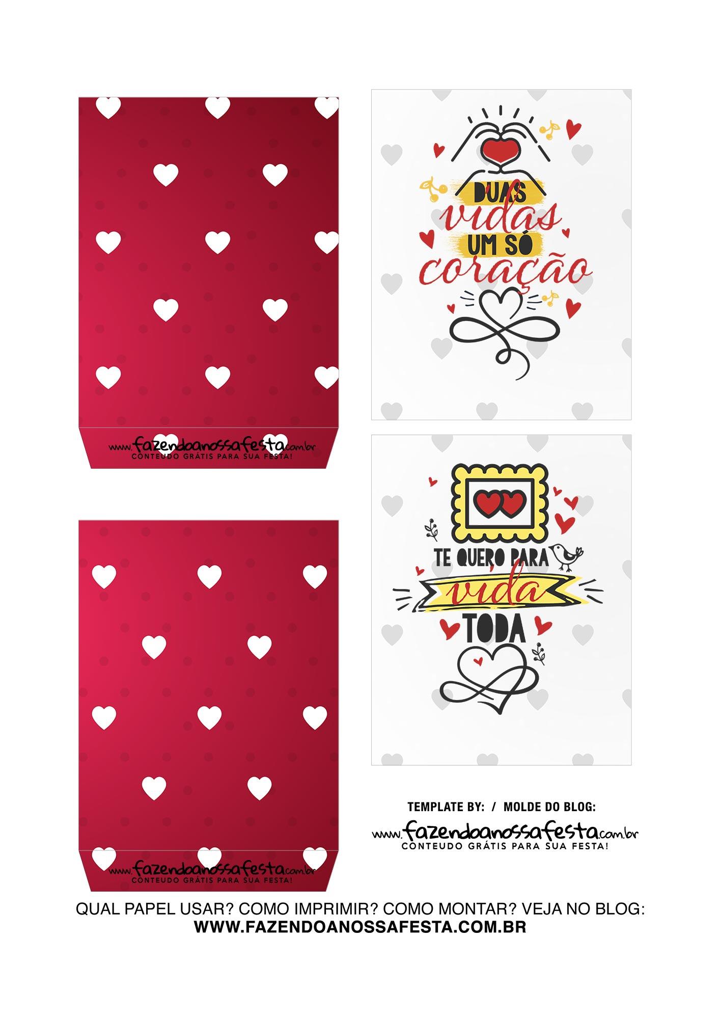 Caixa Explosiva Dia dos Namorados Vermelho Coracoes 3