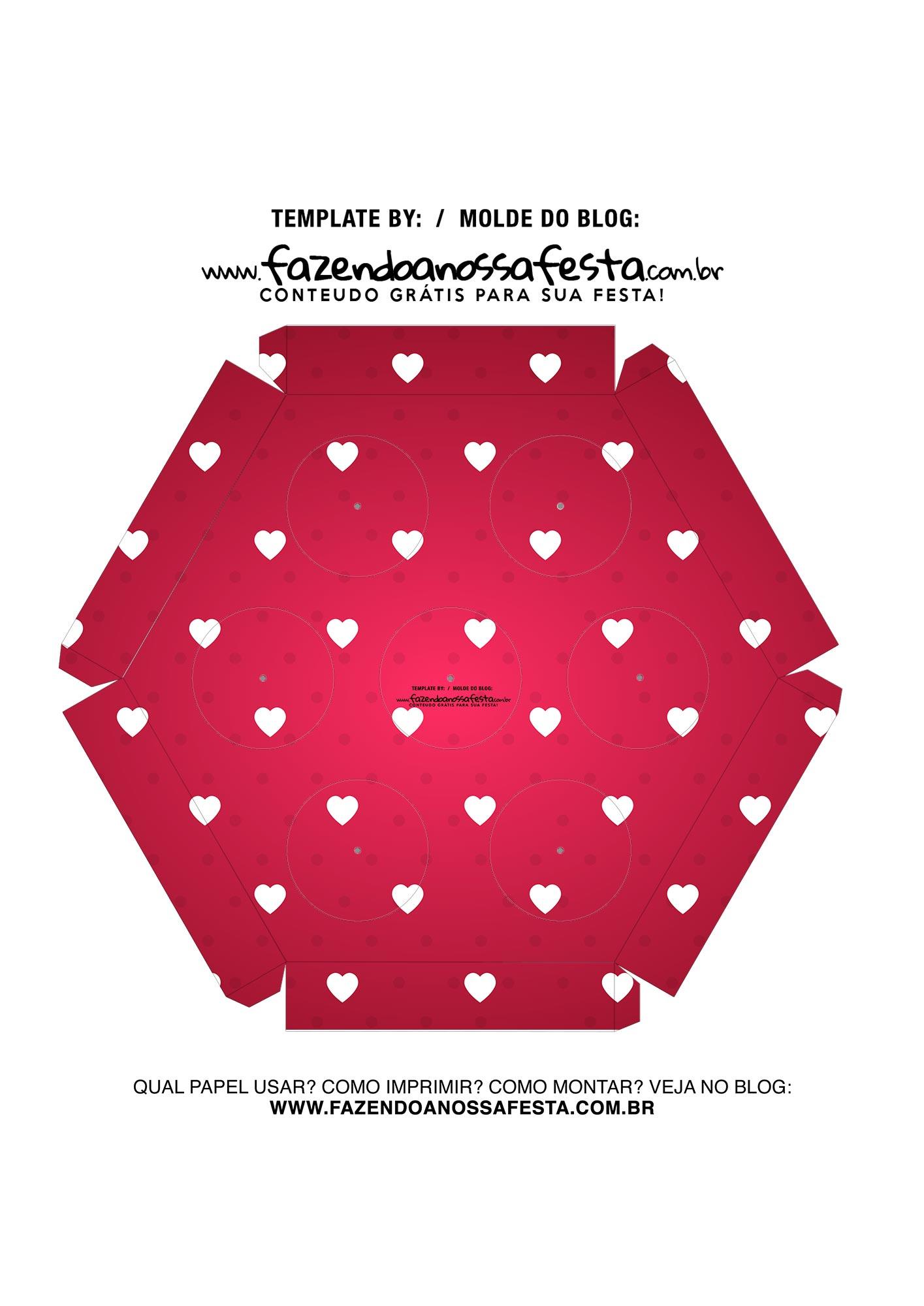 Caixa Explosiva Dia dos Namorados Vermelho Coracoes 6
