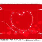 Caixa Joystick Dia dos Namorados Vermelho fundo