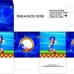 Caixa Kit Colorir Sonic