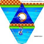 Caixa Piramide Personalizada Sonic