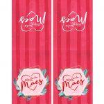 Capa Bloco de notas Dia das Maes Floral Vermelho