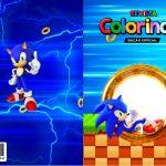 Capa Livrinho para Colorir Sonic
