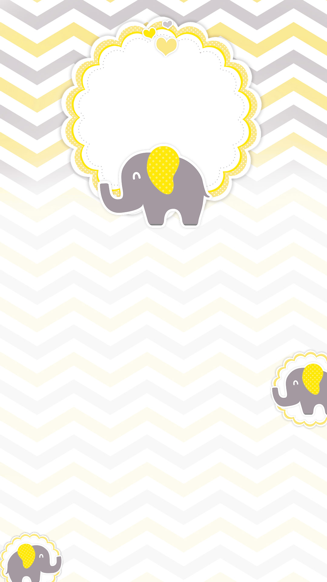 Cartela Rifa Elefantinho Amarelo
