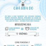 Convite Chá Rifa Balão de ar quente azul