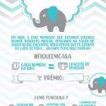 Convite Rifa Elefantinho azul 2