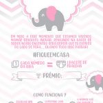 Convite Cha Rifa Elefantinho rosa 22