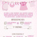 Convite Chá Rifa para editar menina