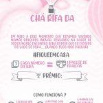 Convite Rifa Balão de ar quente rosa 22