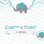 Convite Rifa Elefantinho Azul