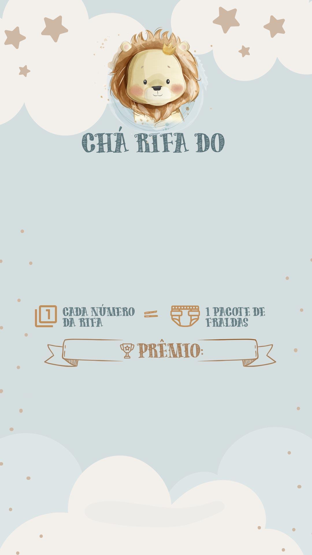 Convite Rifa Leaozinho