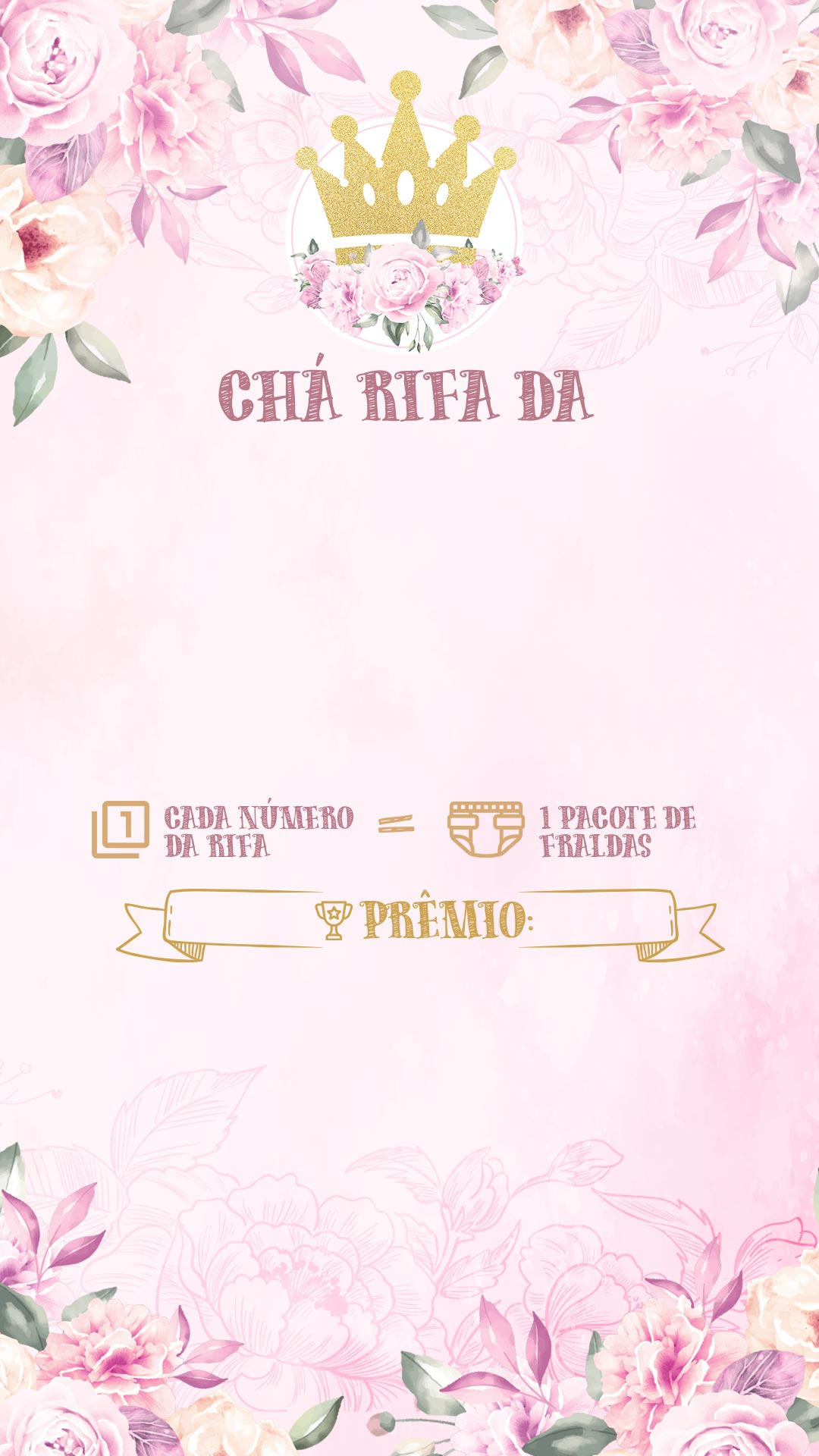 Convite Rifa Realeza Menina 2