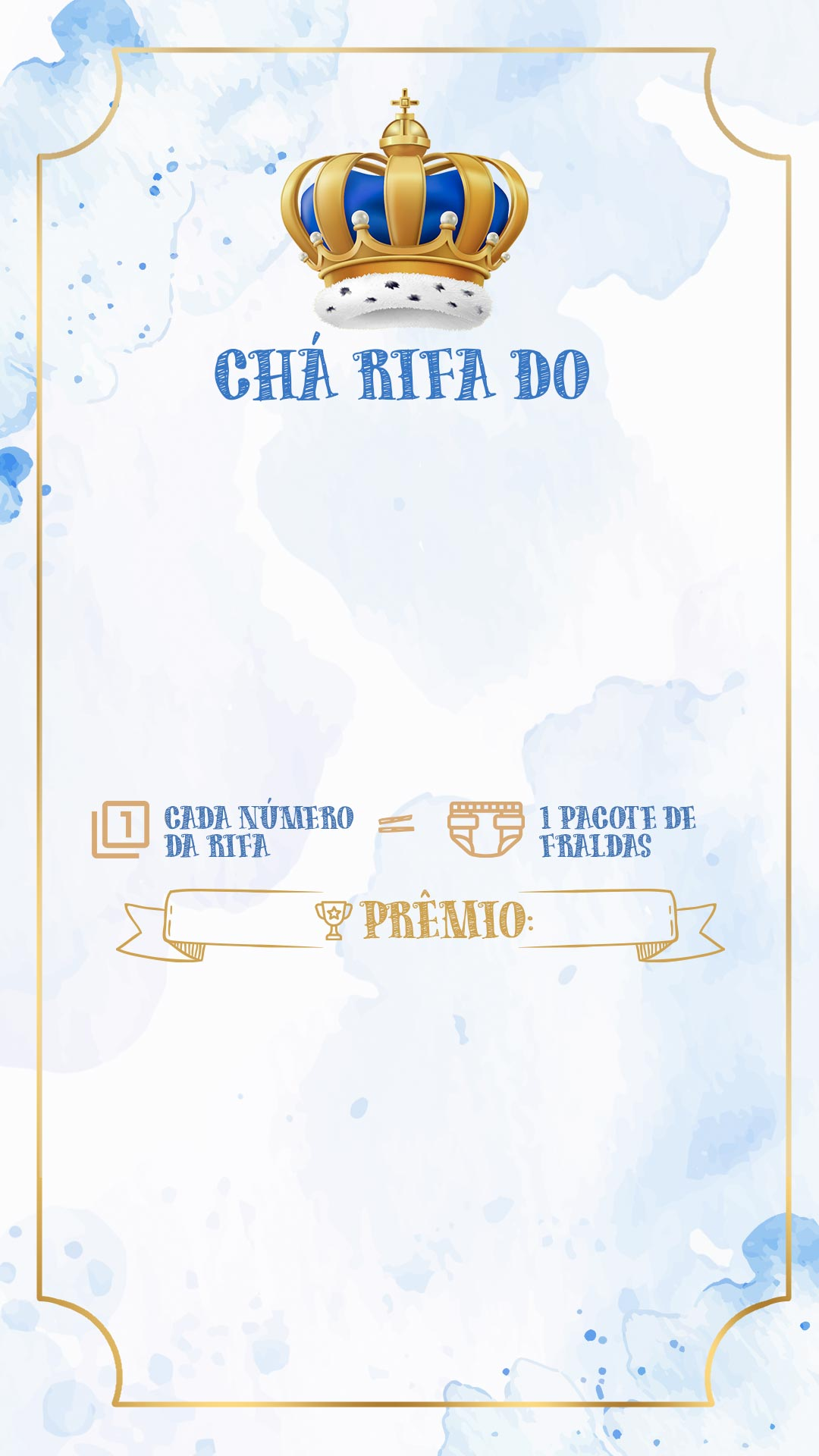 Convite Rifa Realeza Menino