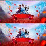 Faixa lateral para bolo festa Frozen 2 gratis