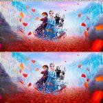 Faixa lateral para bolo festa Frozen 2 gratis para imprimir