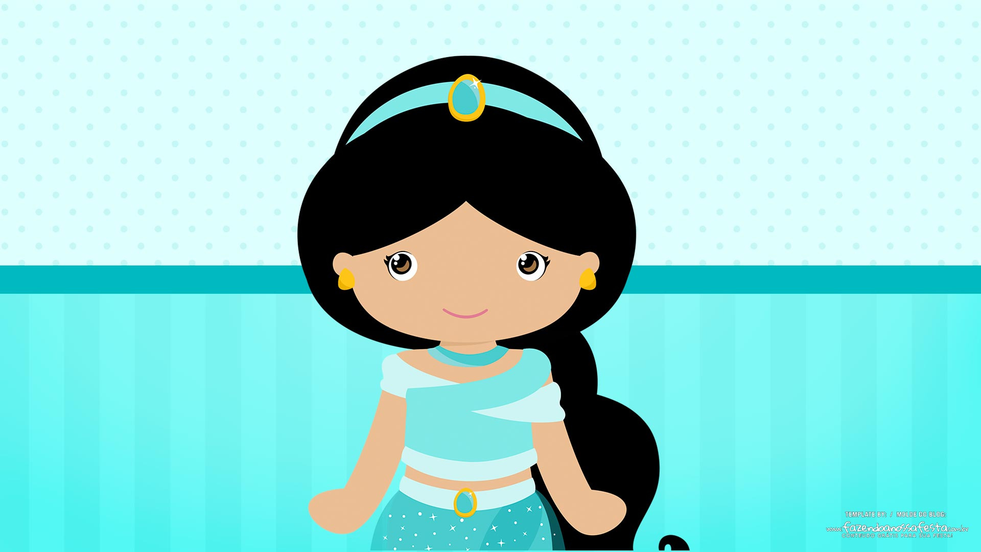 Imagem TV Festa no Rack Jasmine