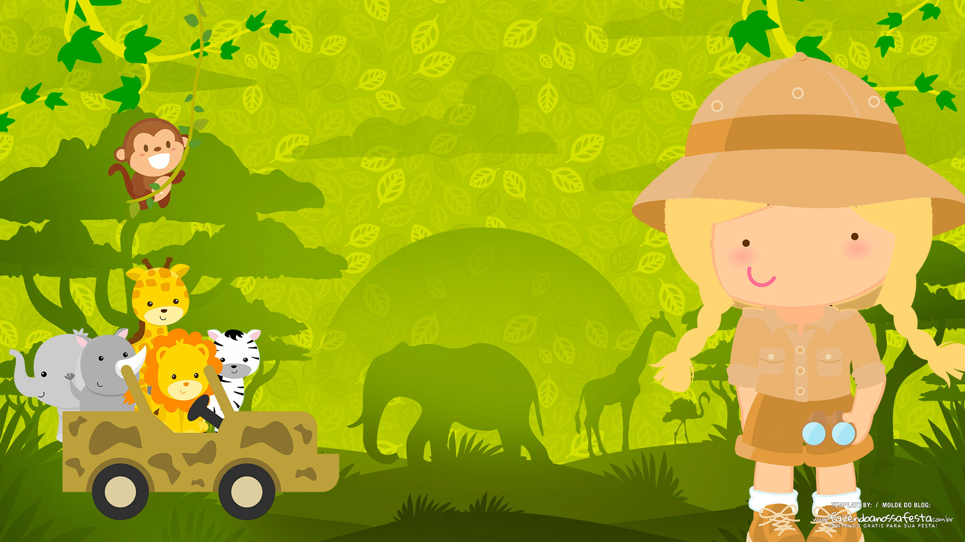 Imagem TV Festa no Rack Safari Menina Loira