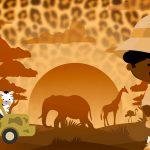 Imagem TV Festa no Rack Safari Menino Afro 2