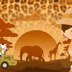 Imagem TV Festa no Rack Safari menino 2