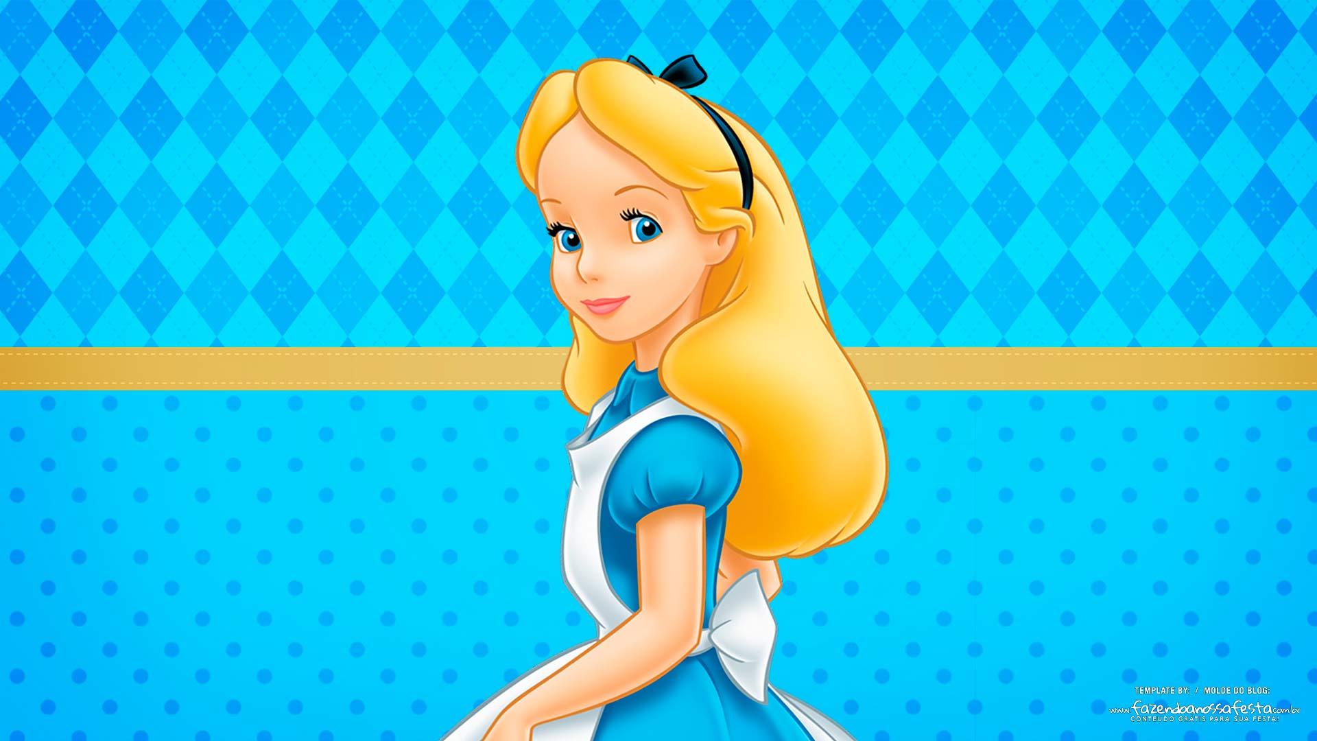 Imagem para TV tema Alice no pais das maravilhas