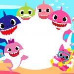 Imagem para TV tema Baby Shark menina