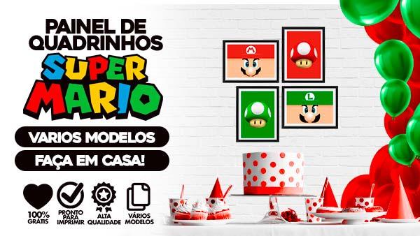 Kit Quadrinhos Festa Super Mario para Imprimir gratis