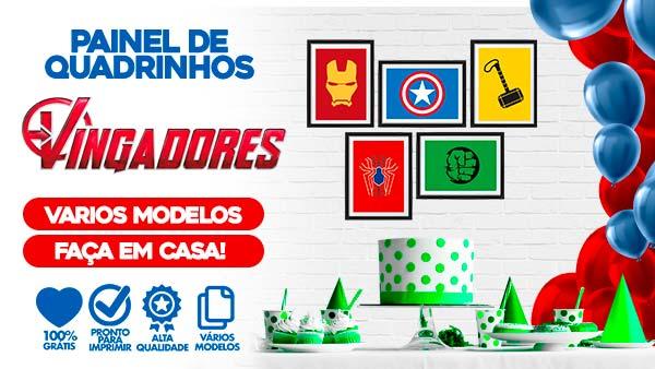 Kit Quadrinhos Festa Vingadores para Imprimir