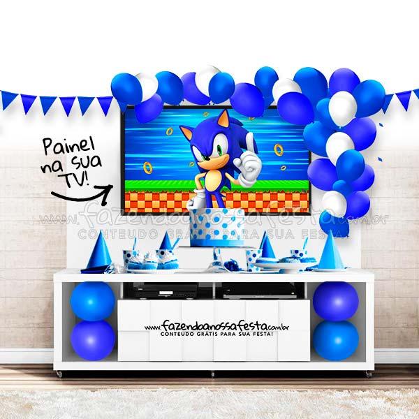 Modelo de festa no rack Tema Sonic