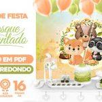 Painel Festa Floresta Encantada Verde