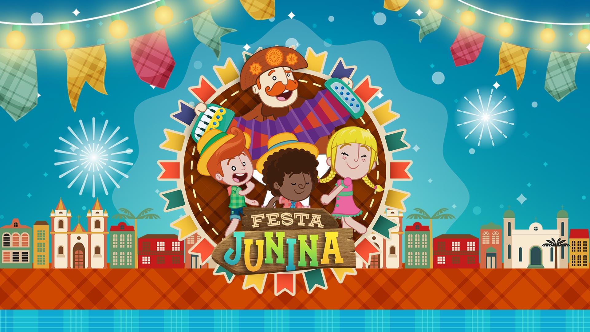 Painel TV Festa Junina do Bita