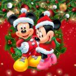 Painel TV Natal Mickey e Minnie