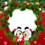 Painel Televisao Tema Natal Mickey e Minnie