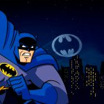 Painel na TV para aniversario tema Batman