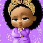 Painel na TV para aniversario tema Poderosa Chefinho Afro