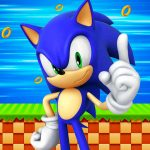 Painel na TV para aniversario tema Sonic