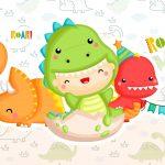 Imagem para TV Festa no Rack Tema Dinossauro