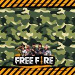 Painel para Televisao Tema Free Fire
