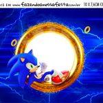 Plaquinha de Comida Sonic