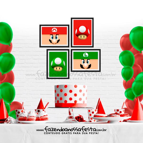 Quadrinho Festa Super Mario para Imprimir