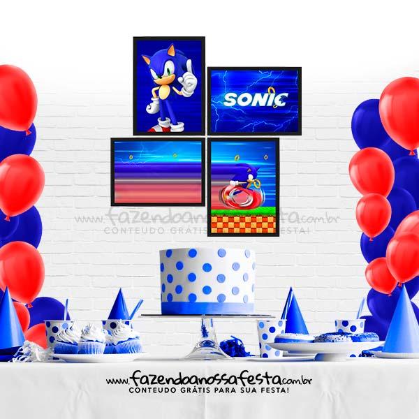 Quadrinho para Festa Tema Sonic