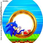 Rotulo Oval Sonic