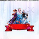 Saia de bolo Frozen 2 para imprimir