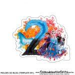 Topo de bolo Frozen 2 para imprimir numero 2