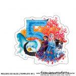 Topo de bolo Frozen 2 para imprimir numero 5